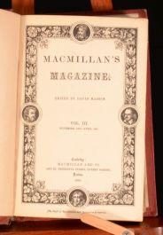 1860-1861 4 Vol Macmillan's Magazine David Masson