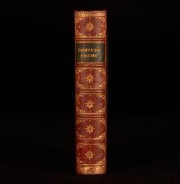 c1884 Poetical Works William Cowper Edit Memoir WM Rossetti Illustrate Seccombe
