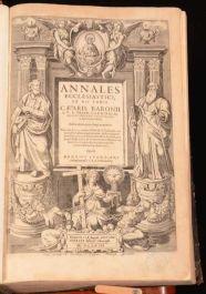1623 Annales Ecclesiastici ex XII Tomis Caesaris Baronii S.R.E. Presb. Cardinalis, Bibliothecarii Apostolici