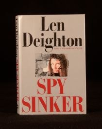 1990 Spy Sinker Len Deighton First Edition Thus in Dustwrapper