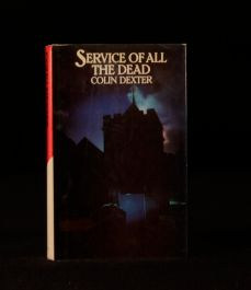 1980 Service of all the Dead by Colin Dexter First US Edition