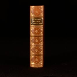 1873 The Miscellaneous Writings and Speeches of Macaulay Fazakerly Binder
