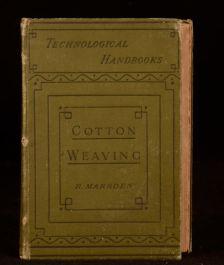 1895 Cotton Weaving Development Principles Practice Richard Marsden Fabric