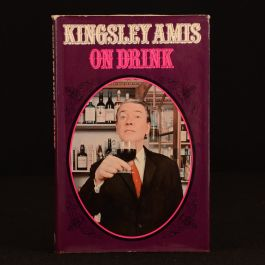 1972 Kingsley Amis On Drink First Edition Dustwrapper Satire Illustrated