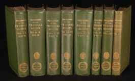 1876-1897 8vol Proceedings PHYSICAL SOCIETY of LONDON