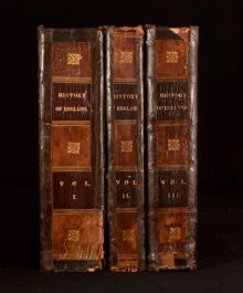 c1848 3Vol The History of England From Julius Caesar to Victoria Hume Smollett