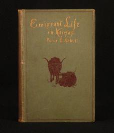 1886 Emigrant Life in Kansas EBBUTT AMERICAN INTEREST