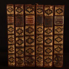 1707 3vol in 6 History Rebellion Civil Wars England Clarendon Second Octavo Edition