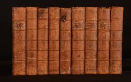 1758-59 9vol History of England T. Smollett Illustrated Folding Maps 2nd 3rd Ed