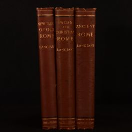 c1890-1901 3vol Pagan Christian Rome Ancient Rome New Tales Lanciani Illustrated