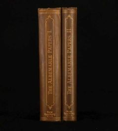 1902 2 Vols The ALBEMARLE Papers Charles S. Terry