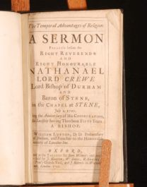 1721 Temporal Advantages of Religion by WILLIAM LUPTON