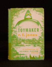1951 Raymond F Jones The Toymaker Collection of SF Stories Unclipped Dustwrapper
