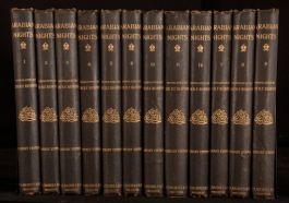 1894 12vol The Book of The Thousand Nights and A Night Arabian Nights Library Ed