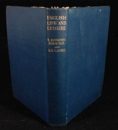 1951 SOCIOLOGY English Life and Leisure ROWNTREE