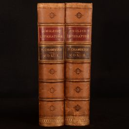 c1858 2vol Cyclopedia of Literature Chambers Revised Carruthers Illustrated