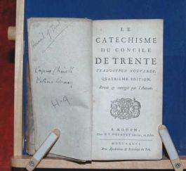 1736 Catechism of COUNCIL of TRENT Rare Doctrine