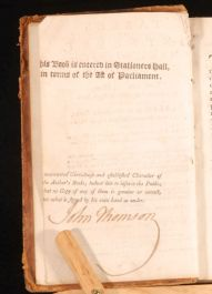 1794 JOHN THOMSON Tables of Interest leather SIGNED