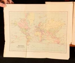1889 A J Duffield Recollections of Travels Abroad Map First Scarce Americas