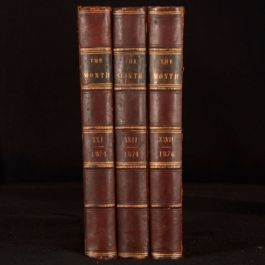 1869-76 3vols The Month and Catholic Review Henry James Coleridge