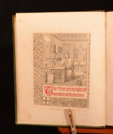 1841 Principles of Pointed or Christian Architecture A. Welby Pugin Illus Design