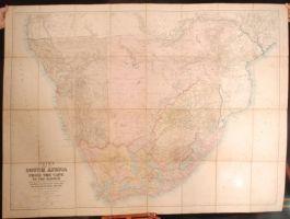 1889 MAP SOUTH AFRICA Cape Zambesi Cape Town JUTA