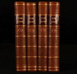 1782 4 Vols History of TOM JONES by Henry FIELDING Calf