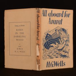 1940 All Aboard For Ararat H. G. Wells Uncommon First Edition Dustwrapper
