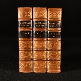 1853 Critical and Historical Essays Contributed to the Edinburgh Review