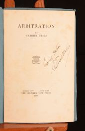 1925 Arbitration by Gabriel Wells Signed Lecture Scarce First Edition