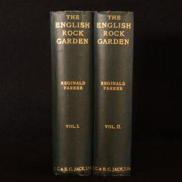 1930 2vol English Rock-Garden Farrer Fifth Impression Illustrated