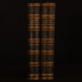1886 2vol A Travers L'Empire Britannique (1883-1884) Hubner French