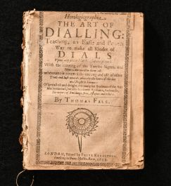 1652 Horologiographia The Art of Dialling Teaching an Easie and Perfect Way