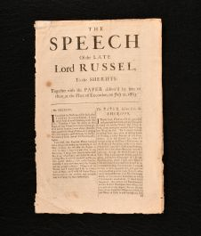 1683 The Last Speech of the Late Lord Russel to the Sheriffs