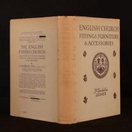 1923 English Church Fittings Furniture and Accessories Cox Dustwrapper