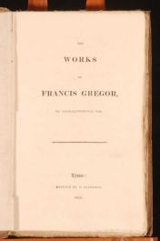 1816 The Works of FRANCIS GREGOR Politics SCARCE