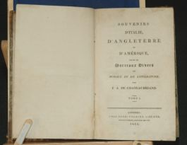1815 Italy England AMERICA Chateaubriand FRENCH travel