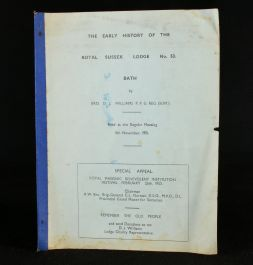 1951 The Early History of the Royal Sussex Lodge No.53. Bath