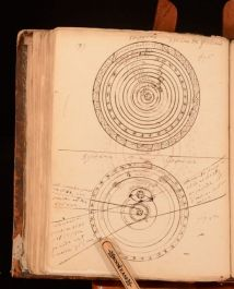 c1780 Handwritten French and English Notebook Usage de Globes Science Astronomy