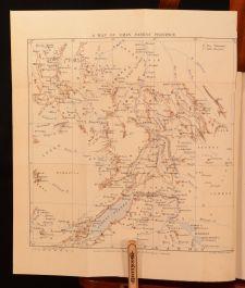 1890 In Darkest Africa Volume II Stanley Third Edition Illustrated Folding Map