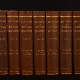 1885-1893 13vols Dictionary of National Biography Volume I-XII XXXV Leslie Stephen First Edition