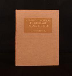 1924 Architectural Pilgrimage Old Mexico Bossom Illus Author's Presentation 1st