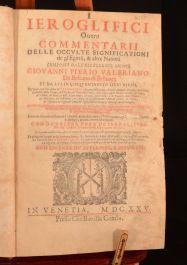 I Ieroglifici Ouero Commentarii Delle Occulte Significationi
