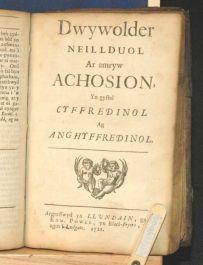 1711 CHRISTIANITY Religion Man's Duty Cymraeg WELSH