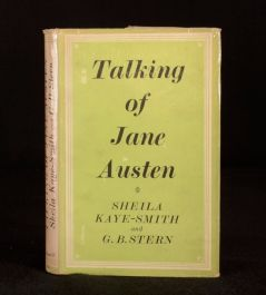 1943 Talking of Jane Austen Sheila Kay-Smith G B Stern Housekeeping Clergy