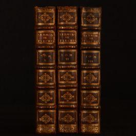 1713 3vol Sermons de Morale Prechez Devant le Roy Flechier Catholic Very Scarce