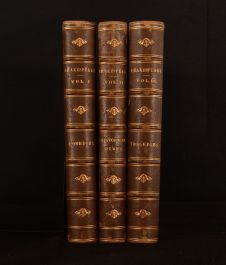 c1880 3vols Plays of William Shakespeare Charles Mary Clarke Selous Illustrated