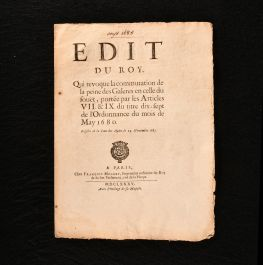 1685 Edit du Roy qui revoque la commutation de la peine des Galeres