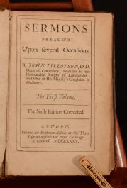 1685 2 Vol in 1 Sermons Preached Upon Several Occasions John Tillotson