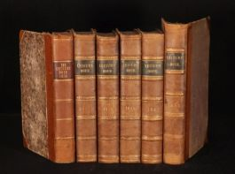 1856-1862 6 vols The Leisure Hour Journal LEATHER